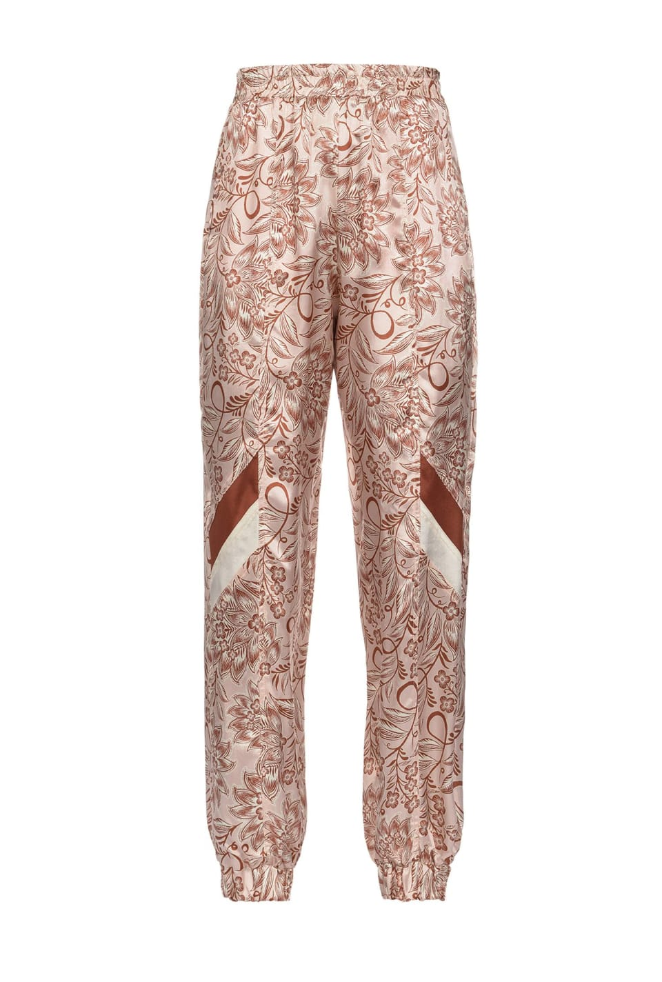 Ethnic floral print trousers