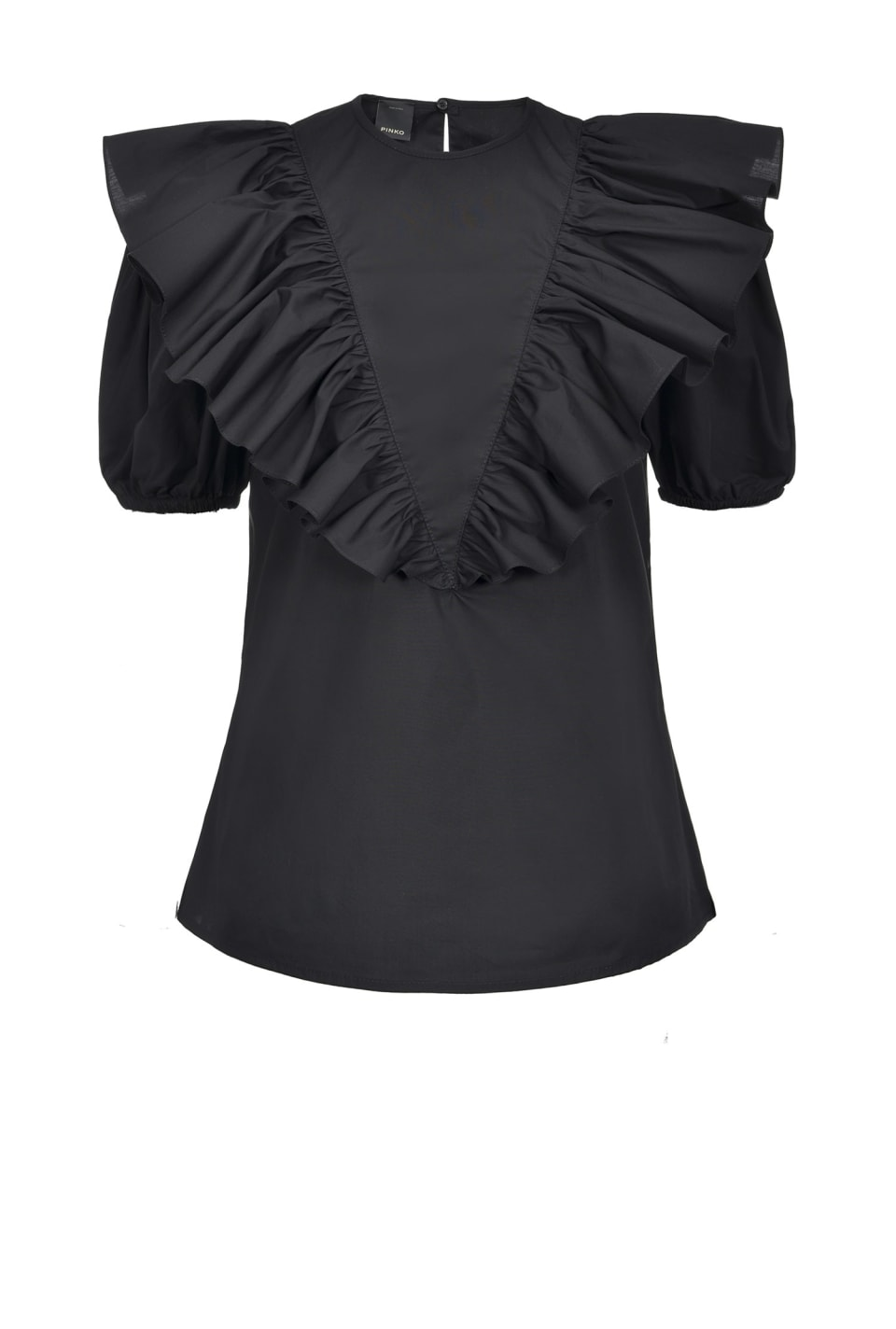 Blouse with maxi ruffles