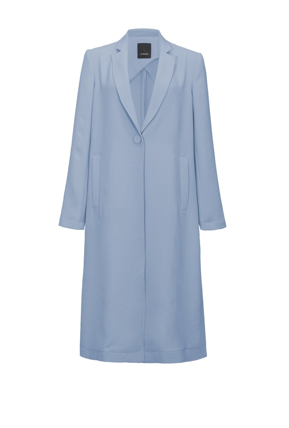 Stretch crepe raincoat