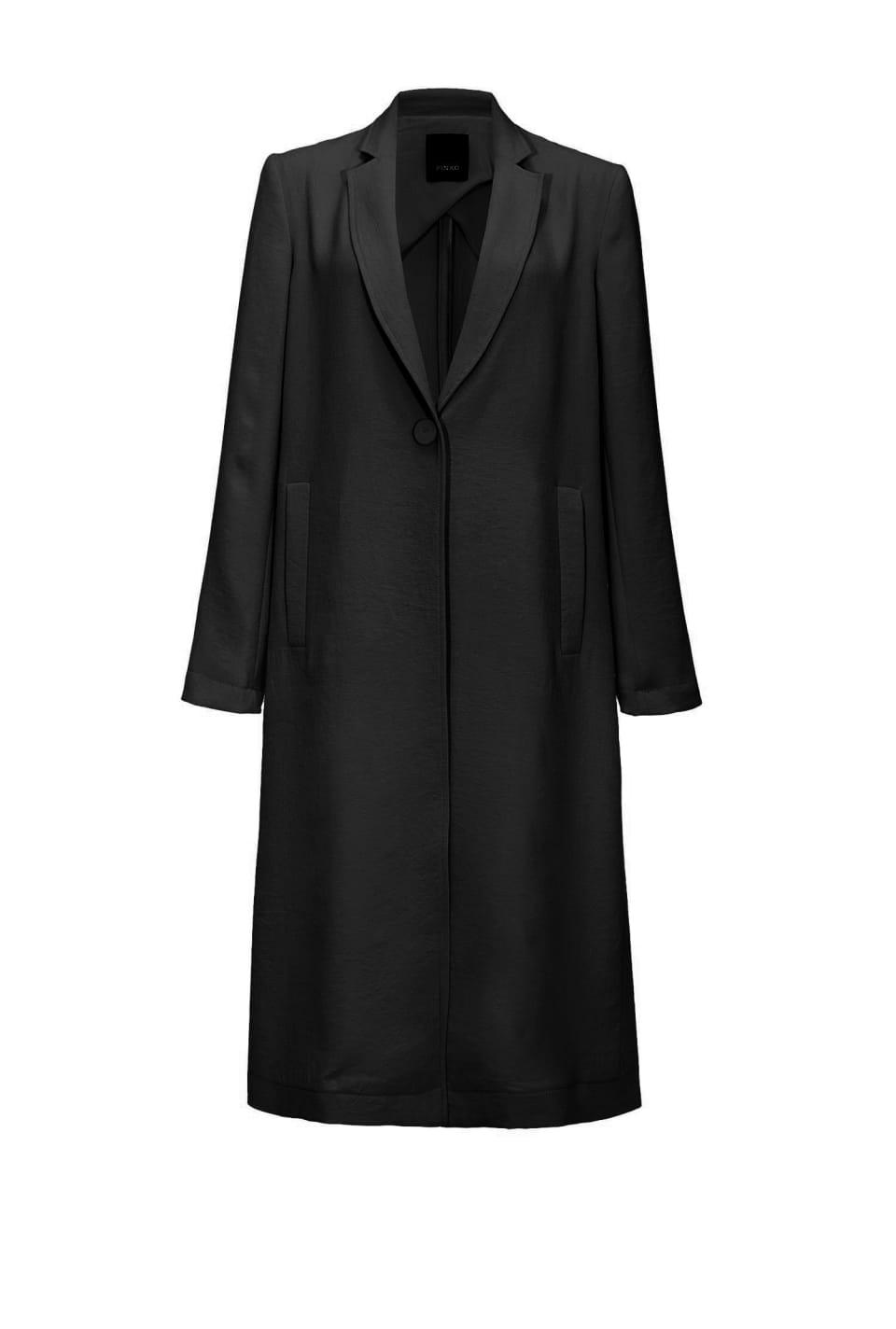 Stretch crepe raincoat