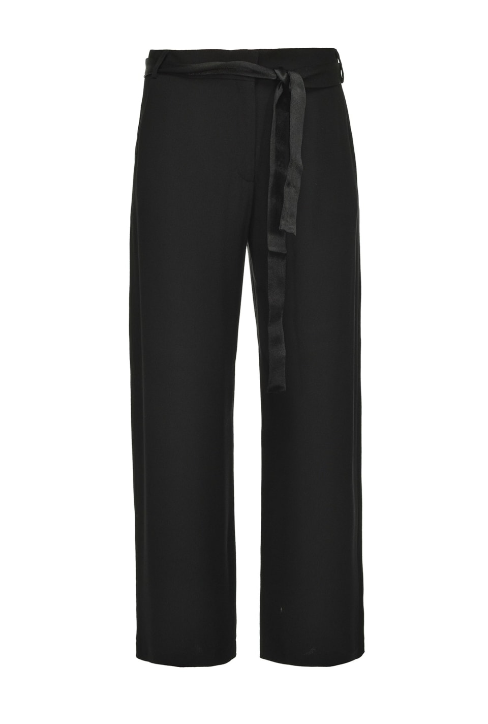 Cropped trousers in envers satin - Pinko