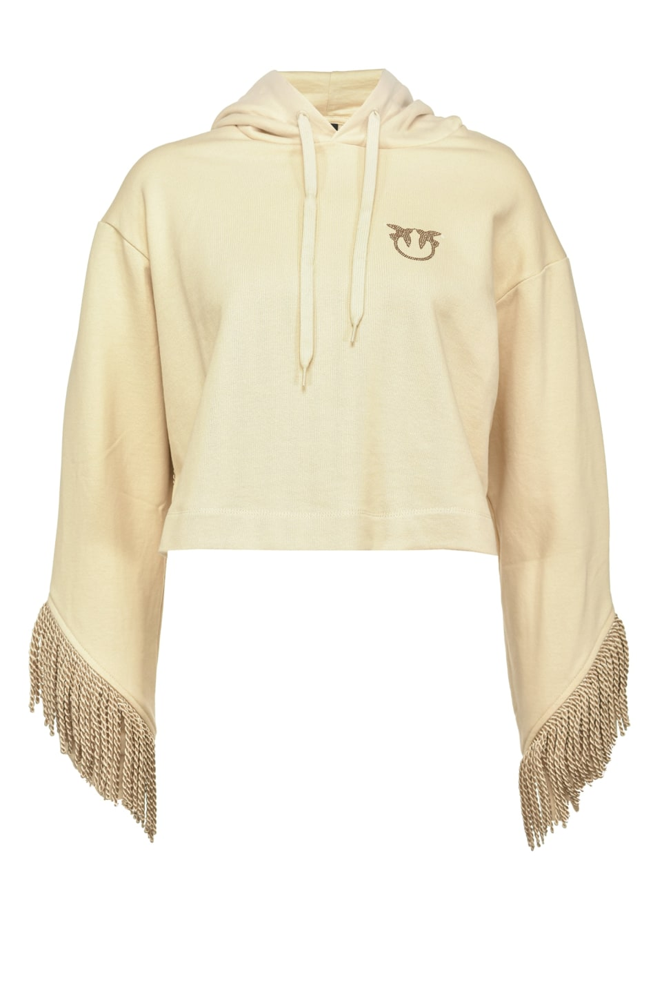 Cropped sweatshirt with fringe