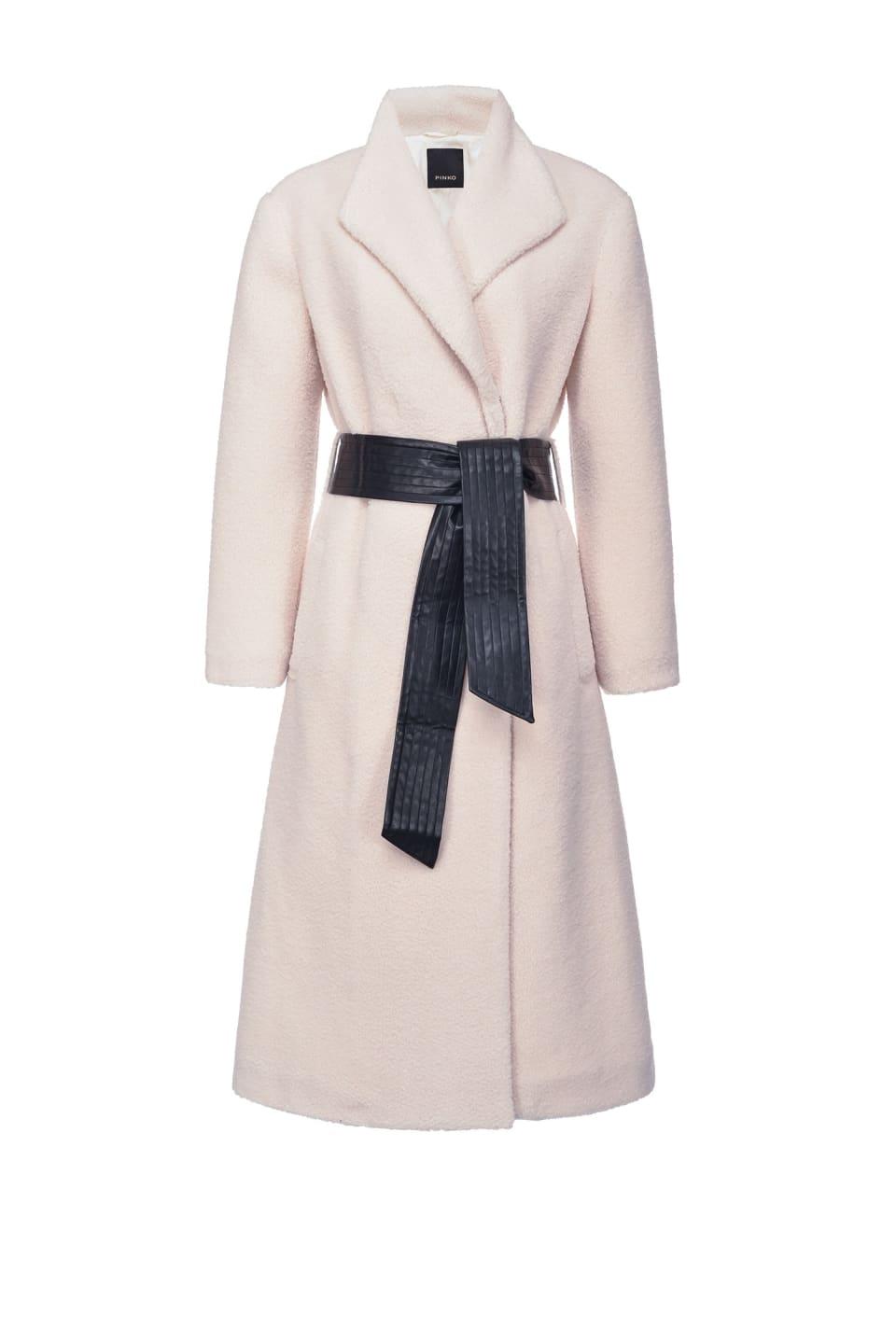 Manteau long en fausse fourrure effet peluche - Pinko