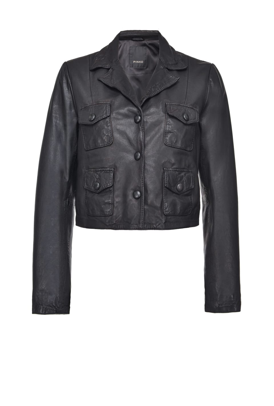 Short vegetable-tanned nappa leather jacket - Pinko