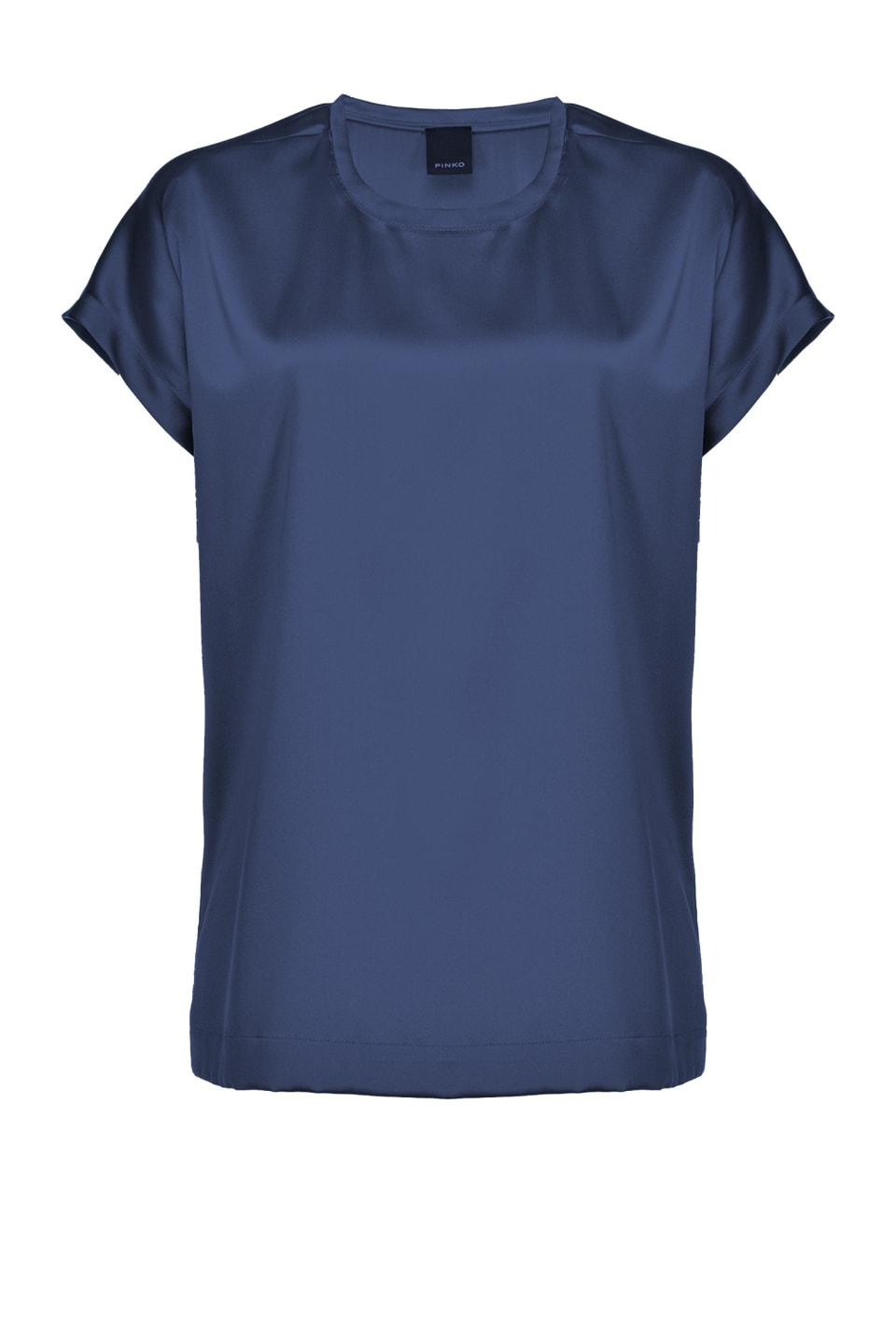 Short sleeve silk satin top - Pinko