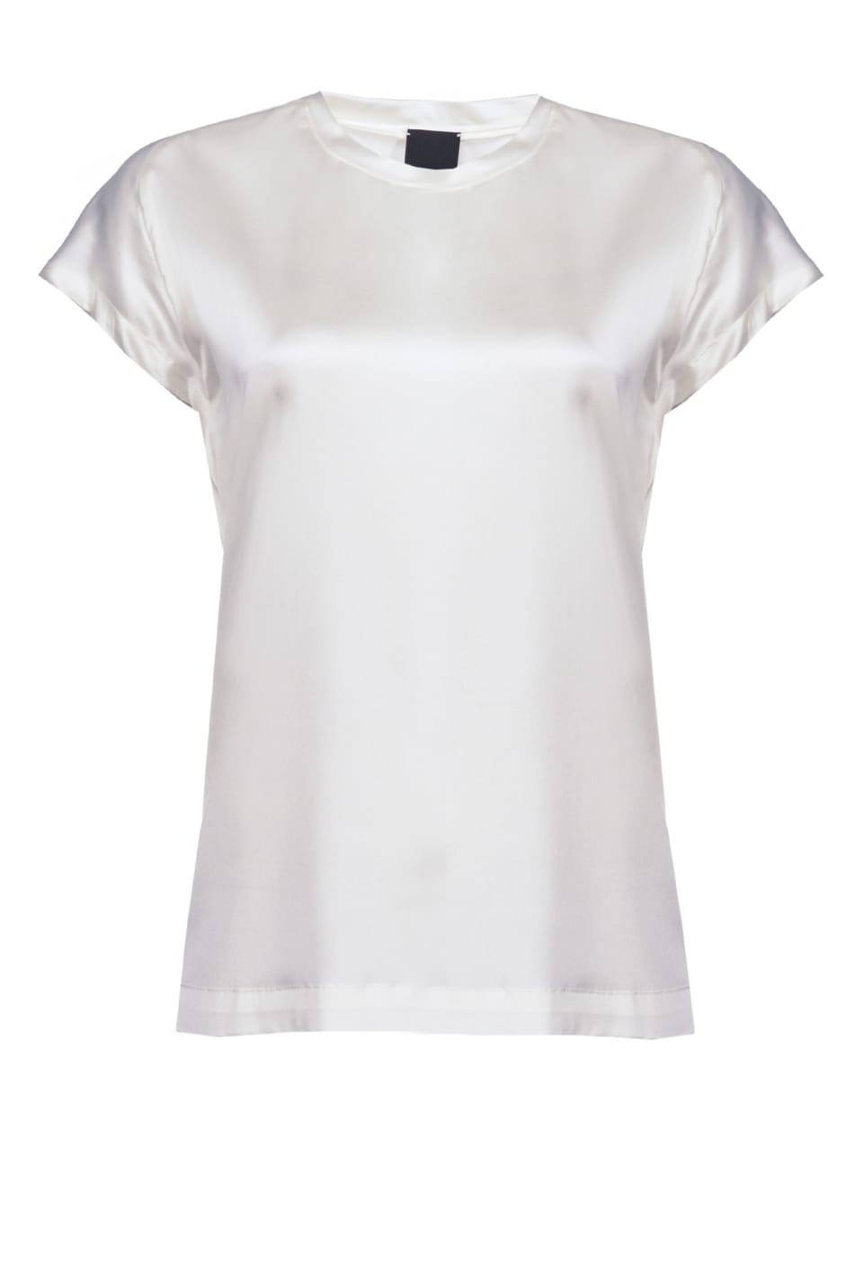 Short sleeve silk satin top - Pinko