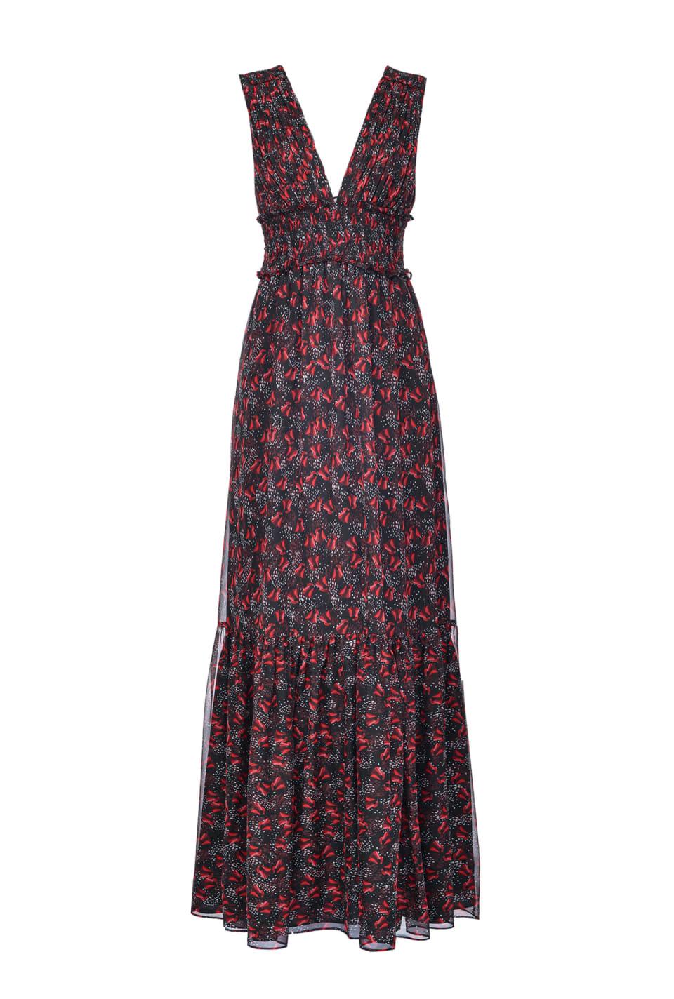 Long tulip-print dress - Pinko