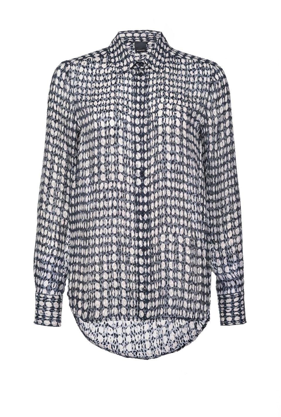 Polka-dot-print devoré satin shirt - Pinko