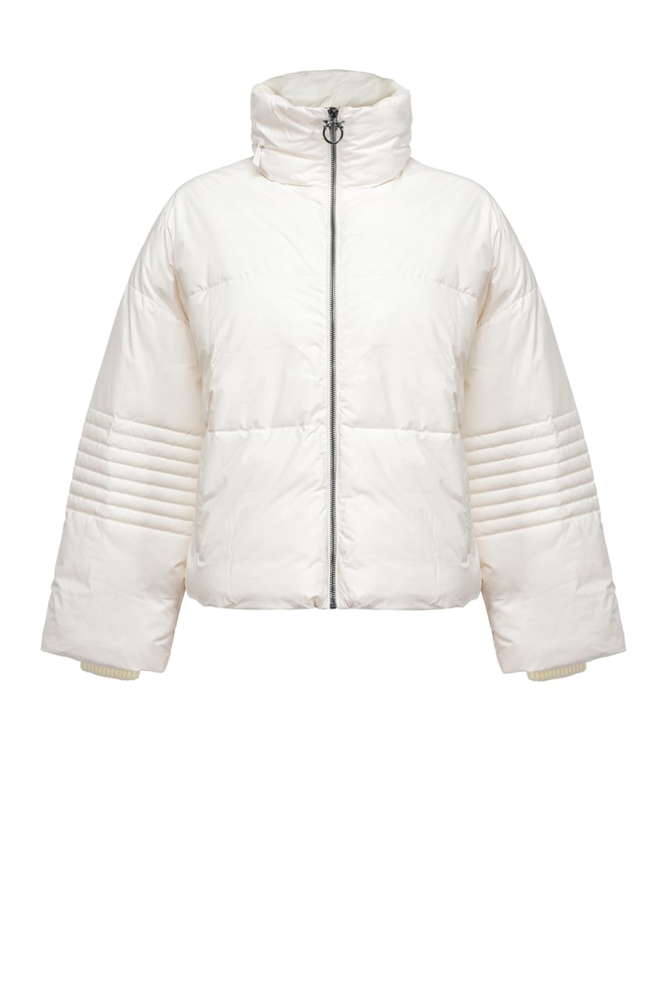 Quilted reefer jacket in technical fabric - Pinko