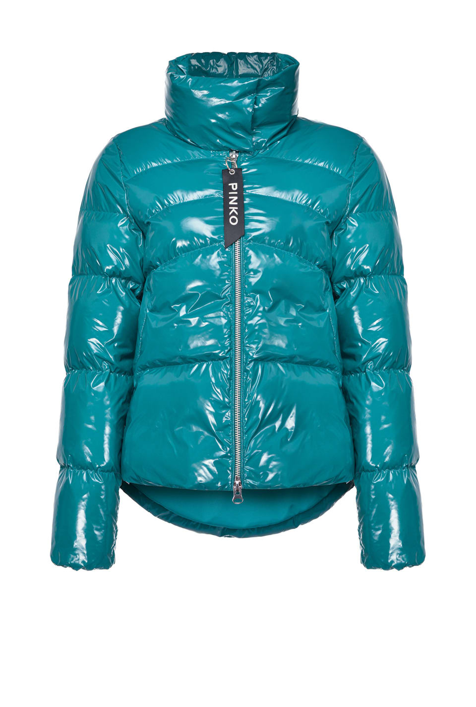 Nylon crystal quilted coat - Pinko
