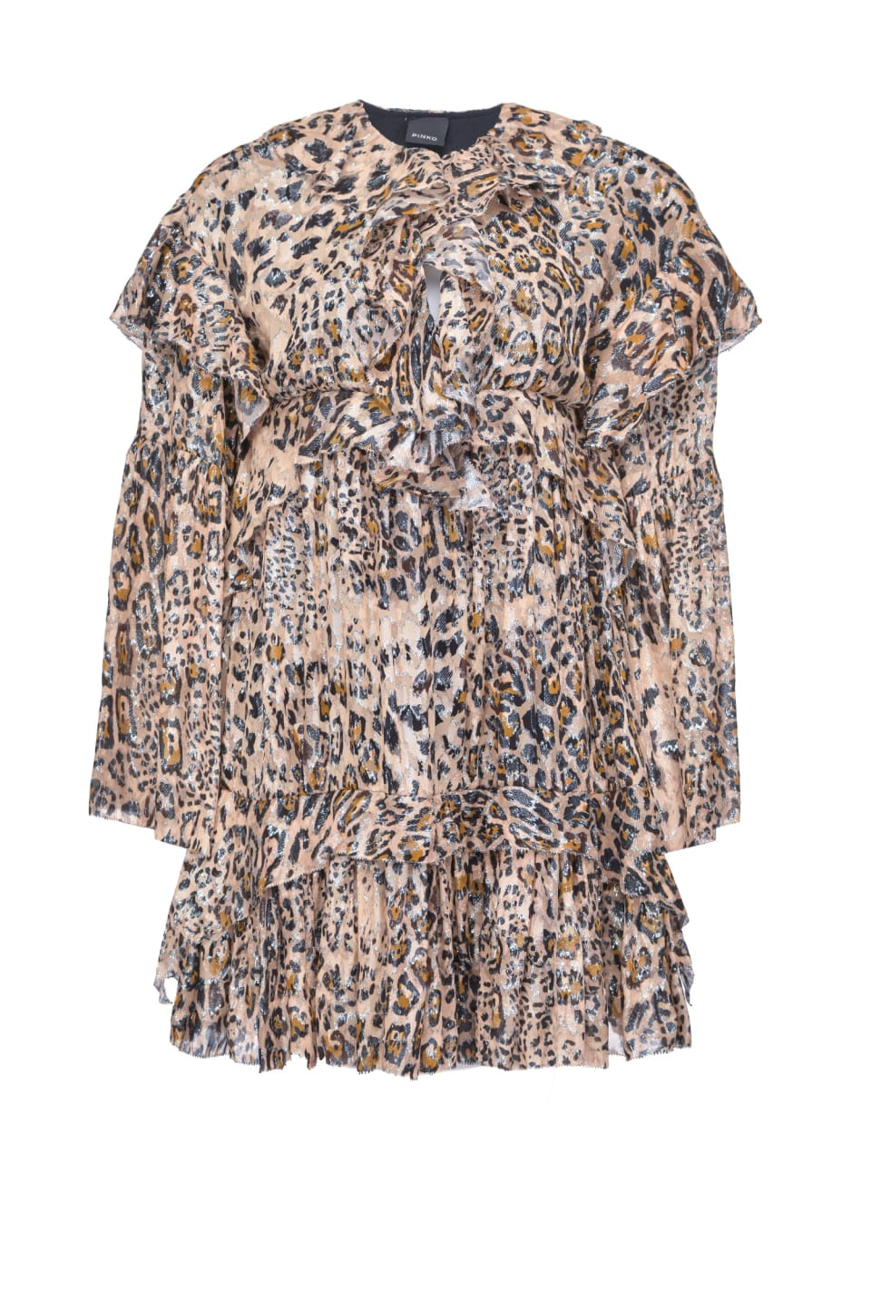 Fil coupé leopard print dress - Pinko