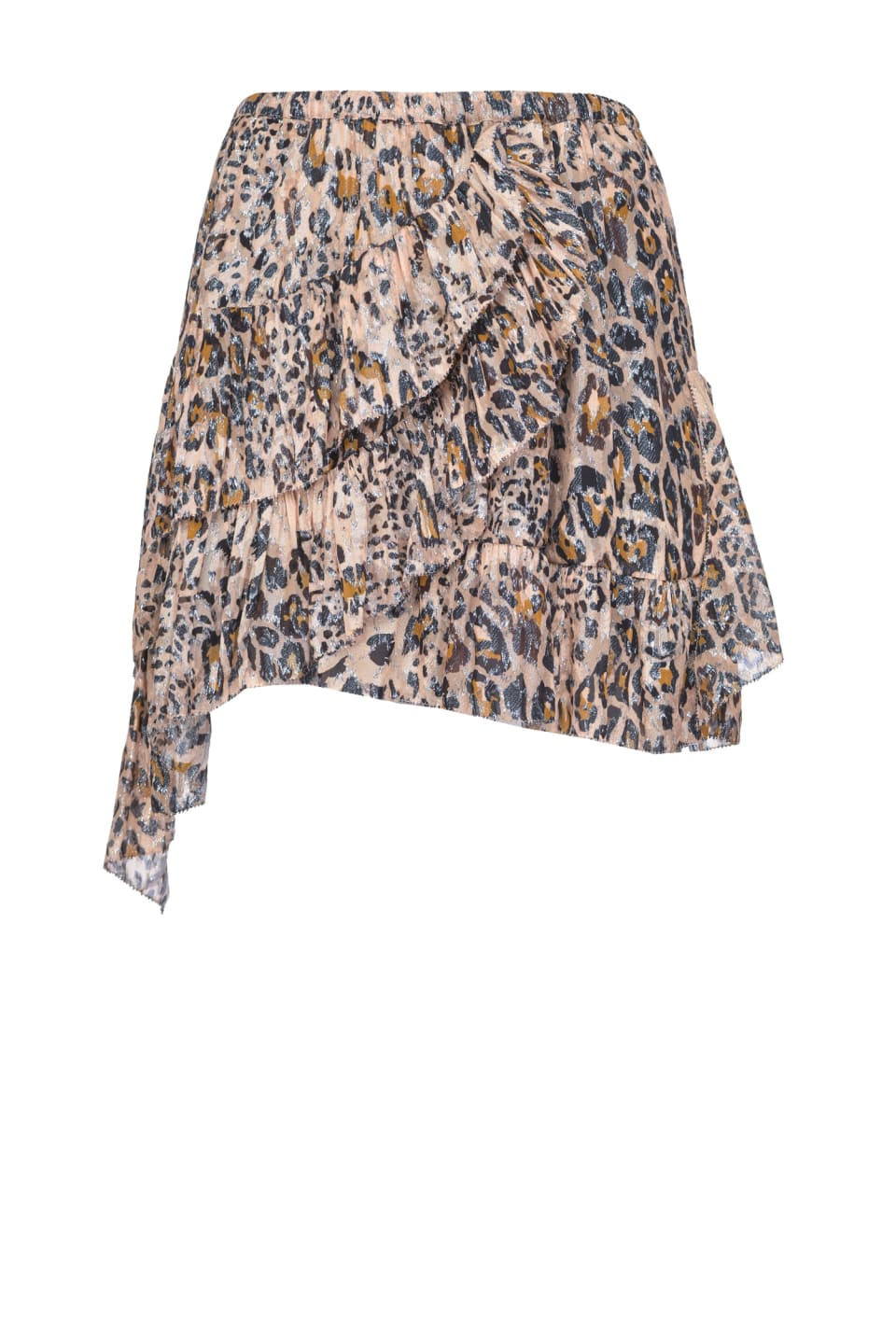 Fil coupé leopard print mini skirt