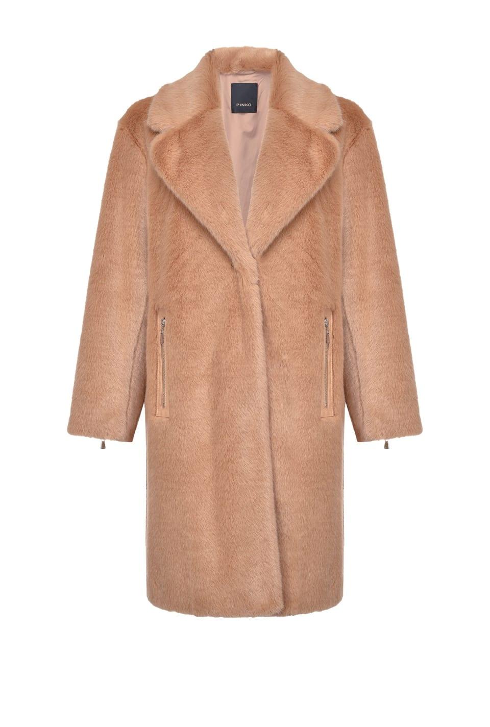 Faux-mink coat - Pinko