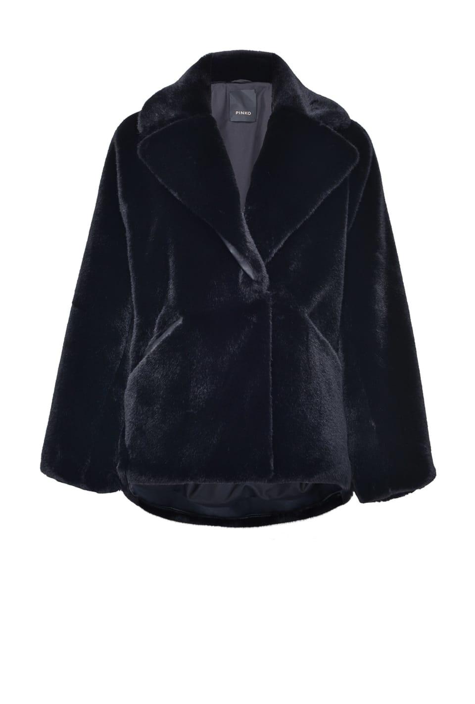 Faux-fur blouson coat - Pinko