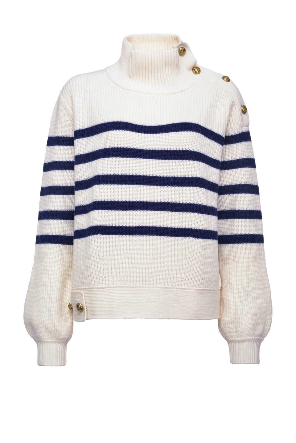 Sailor pullover with gold buttons - Pinko