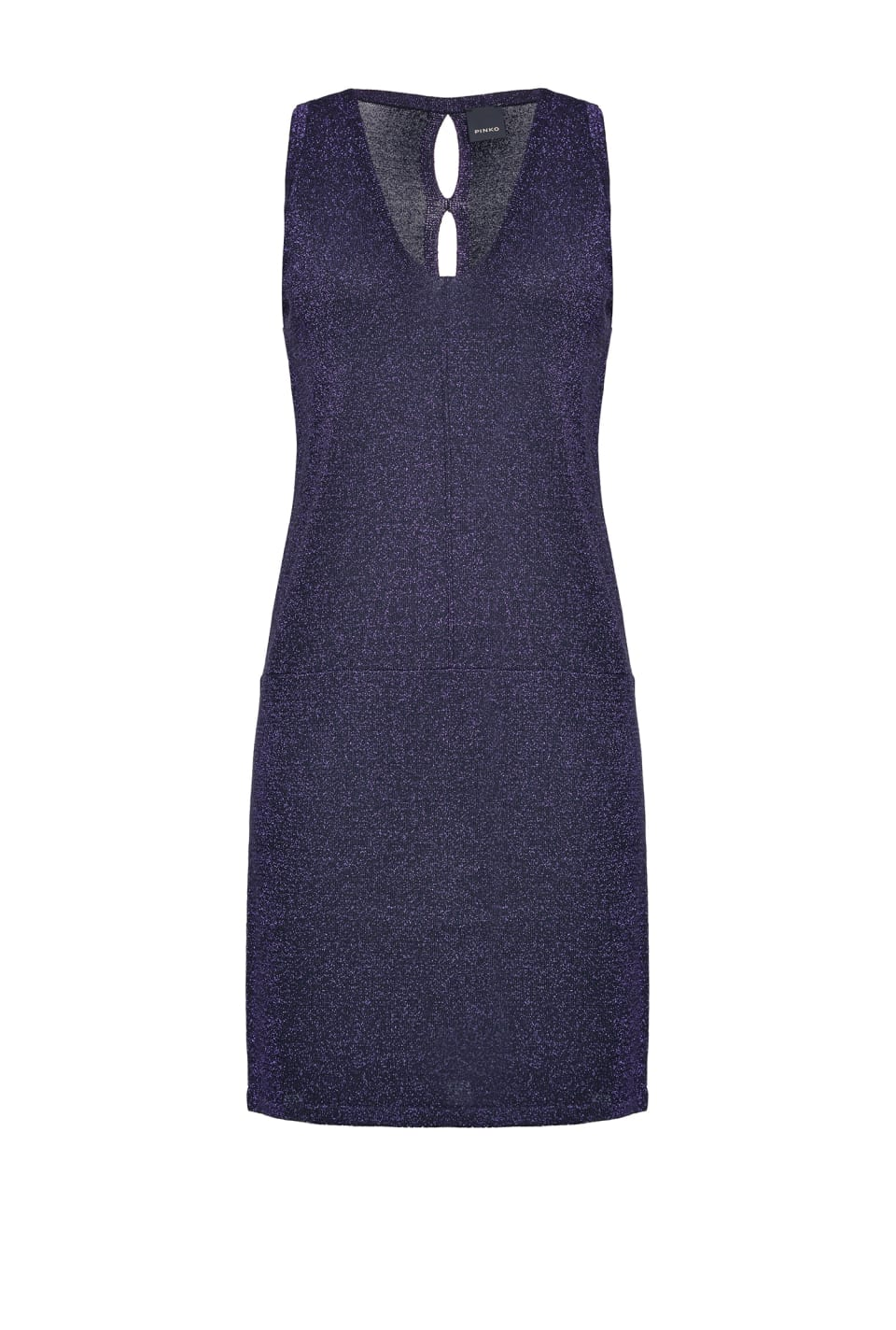 Lurex knit mini dress - Pinko
