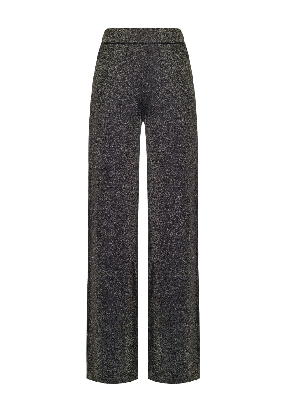 Lurex knit trousers