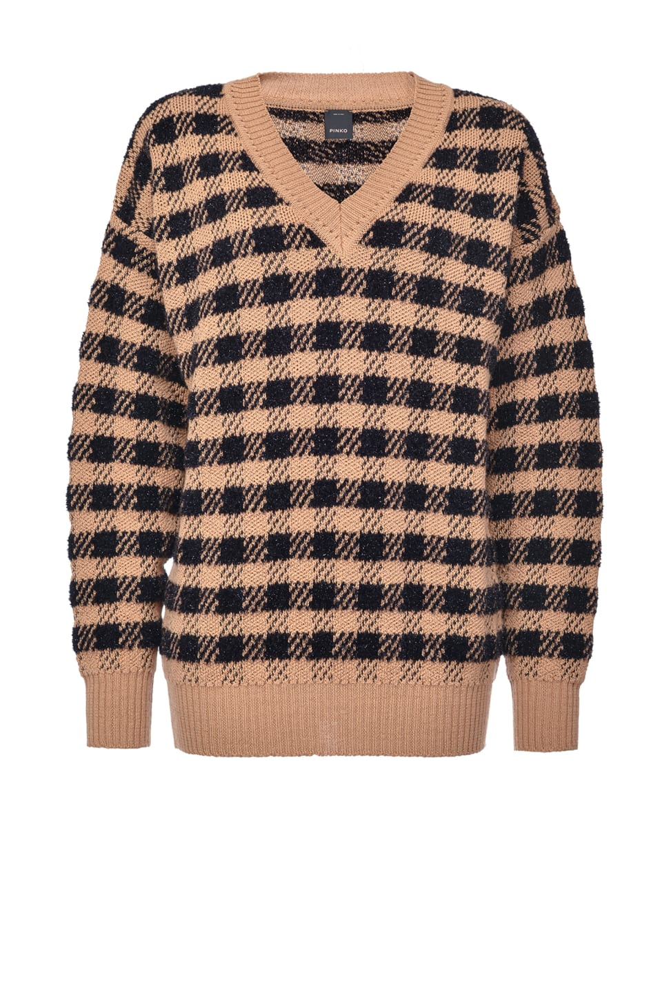 Checked jacquard pullover - Pinko