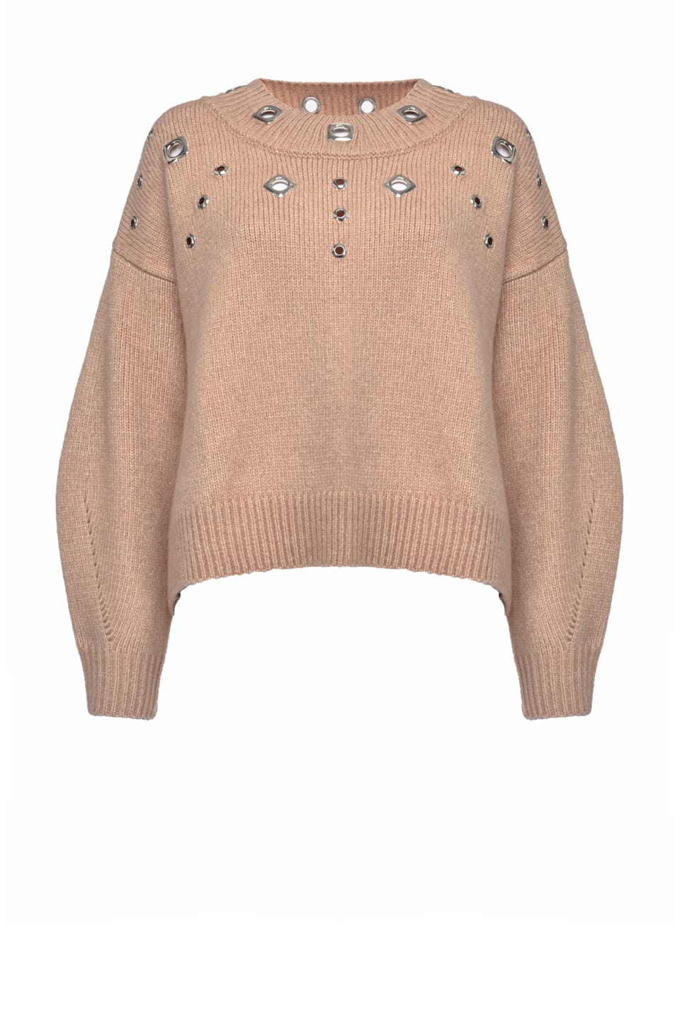 Pullover with metal eyelets - Pinko