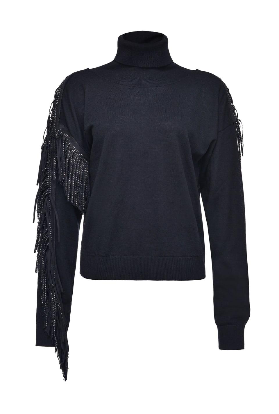 Rhinestone fringe pullover