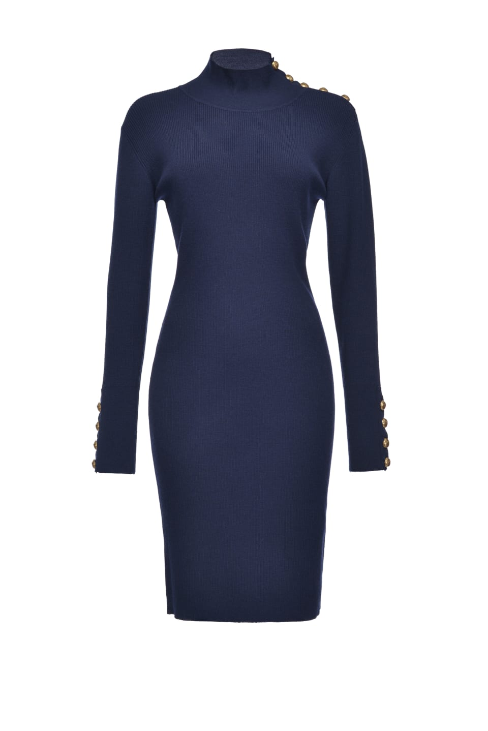 Sheath dress with gold buttons - Pinko