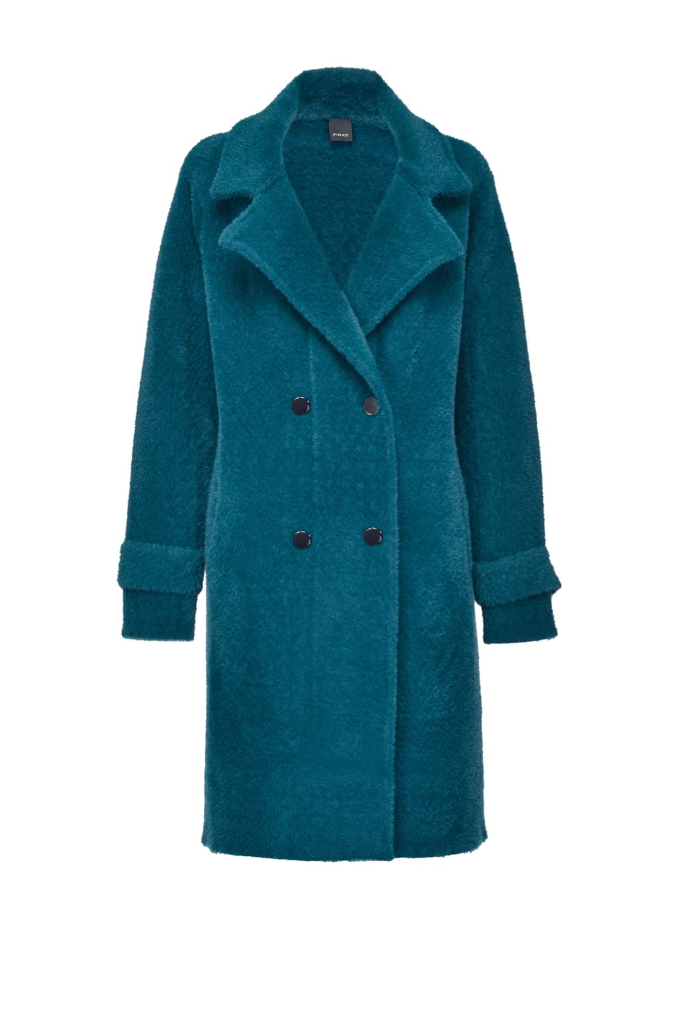 Cappotto doppiopetto in faux fur - Pinko