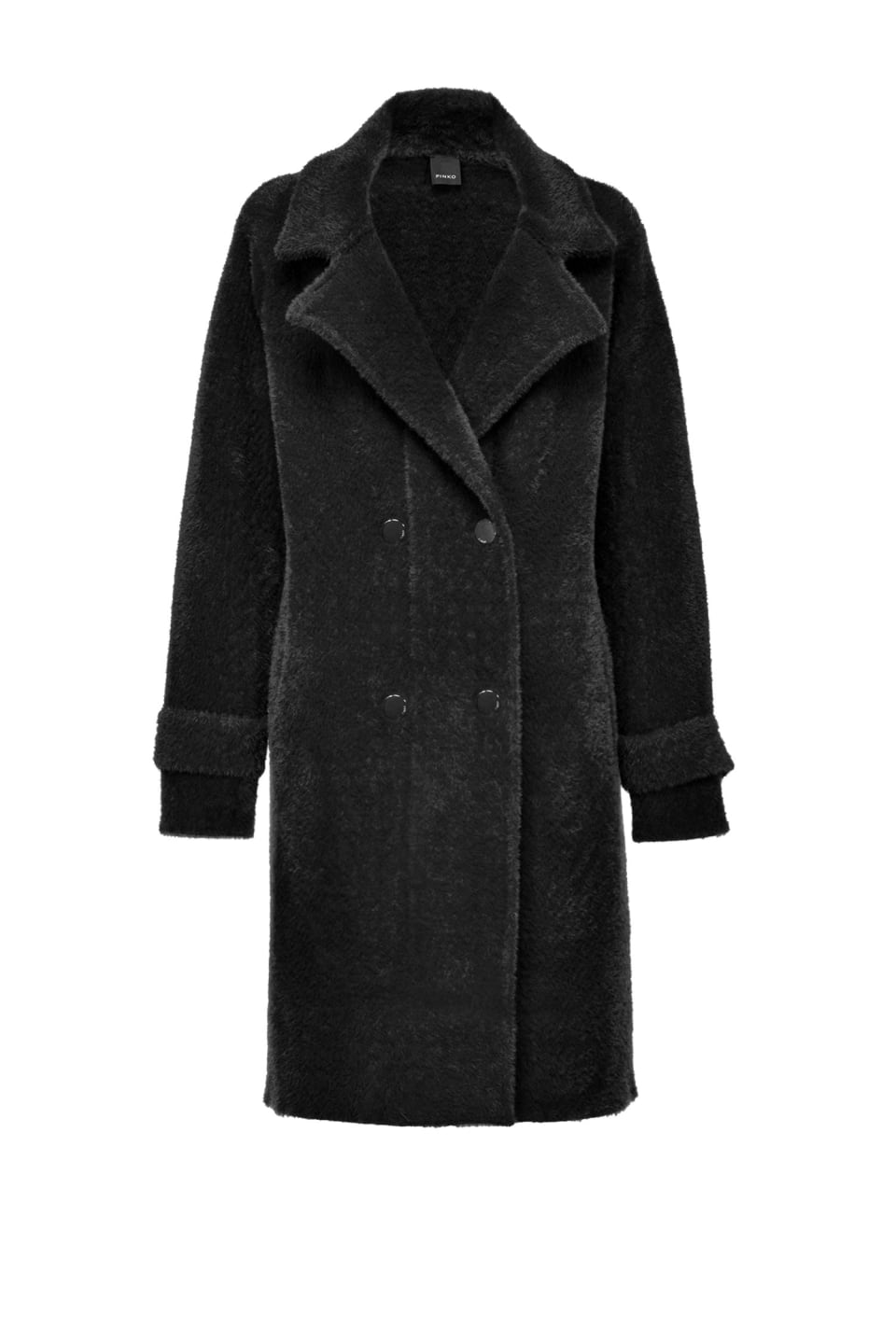 Double-breasted faux-fur coat - Pinko