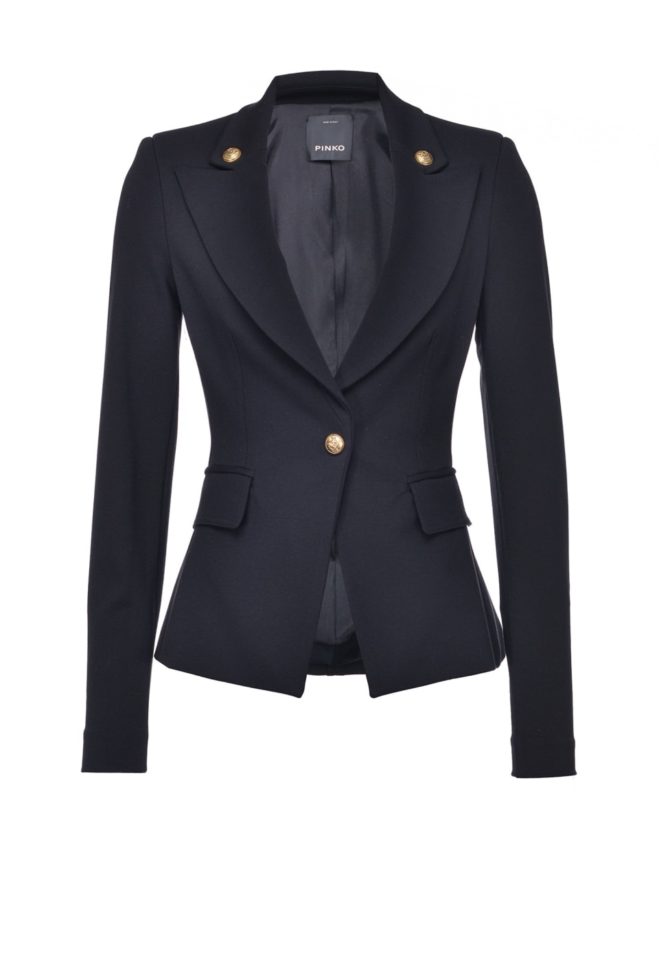 Slim blazer with golden buttons - Pinko
