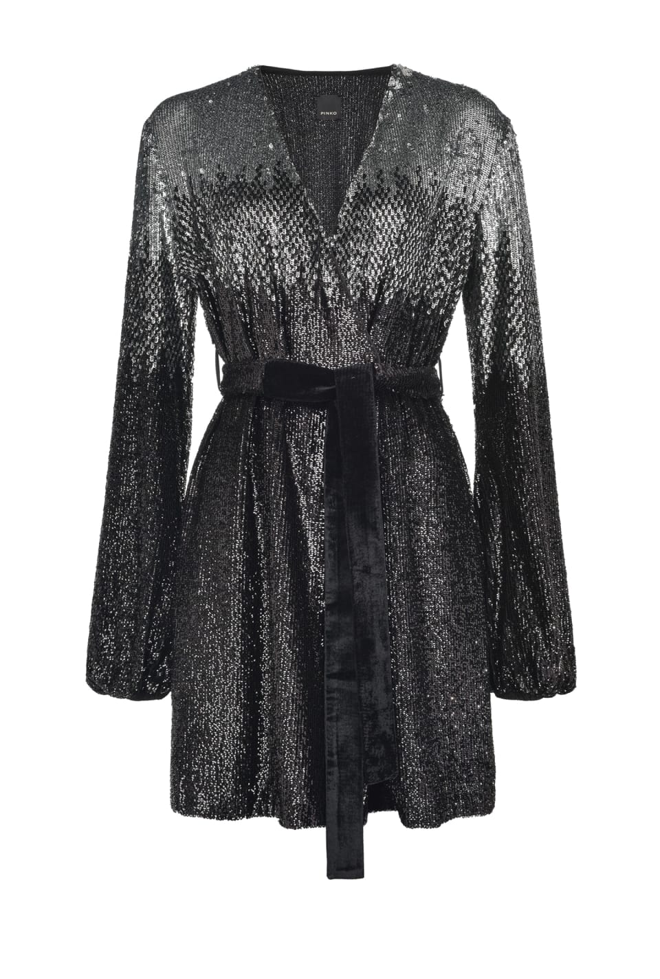 Fully sequinned wraparound dress - Pinko