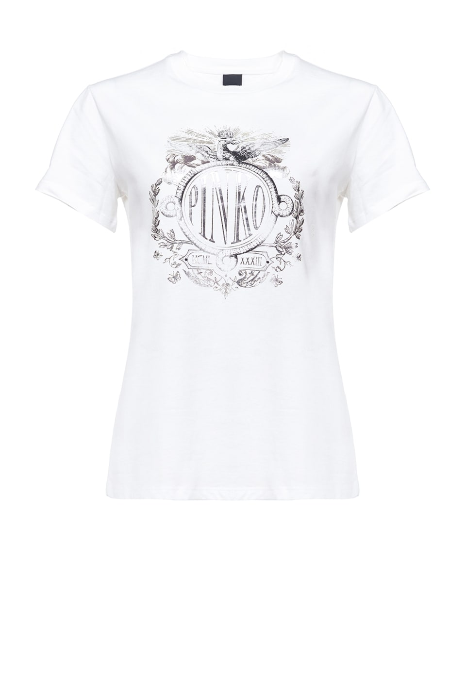 T-shirt with laminated rock logo print - Pinko