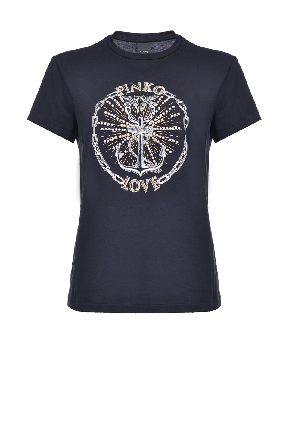 PINKO Love T-shirt with anchor print