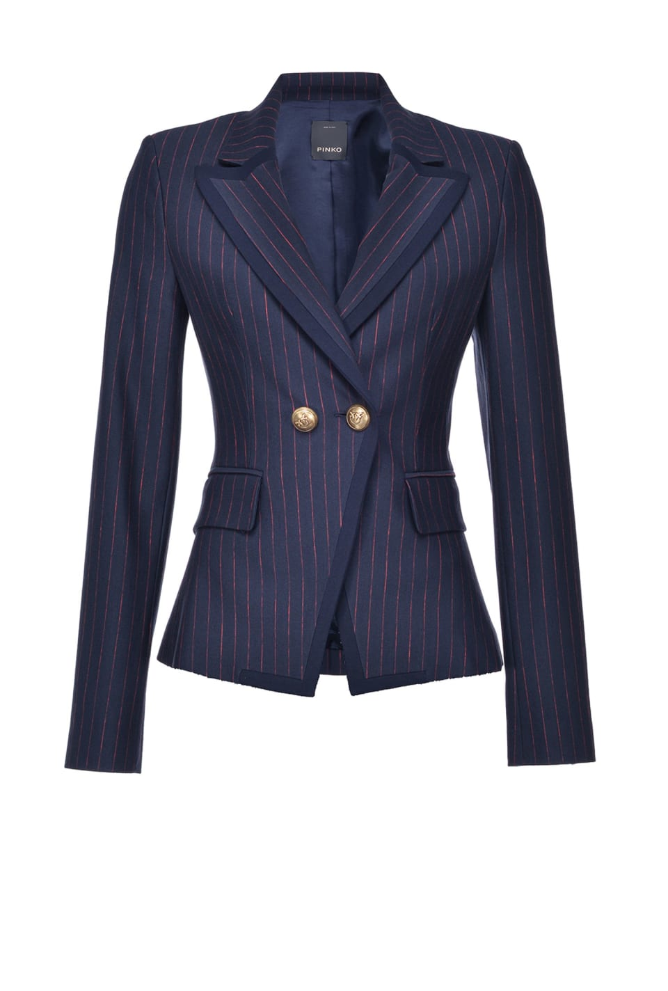 Slim pinstriped blazer