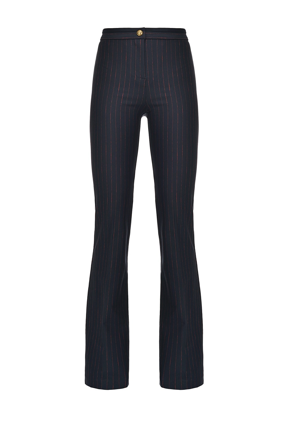 Flared pinstriped trousers