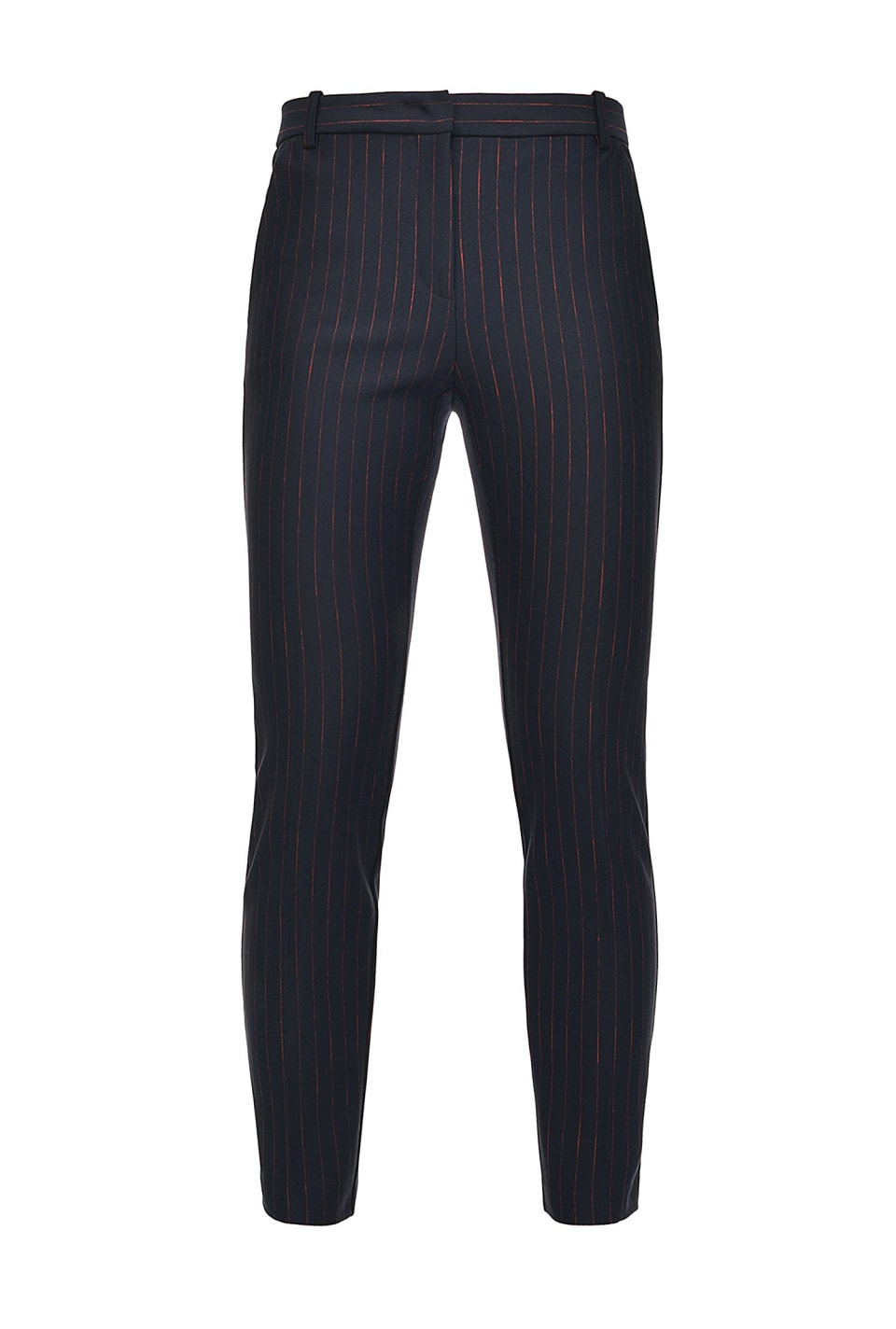 Pinstripe cigarette-fit trousers