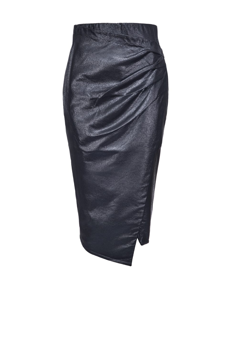 Leather-look viscose midi-length skirt - Pinko