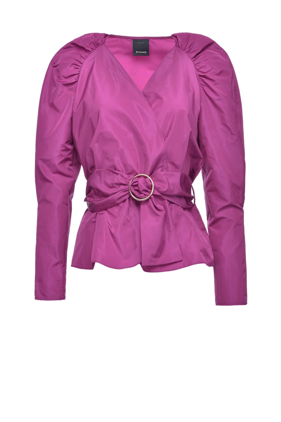 Taffeta blouse with belt - Pinko