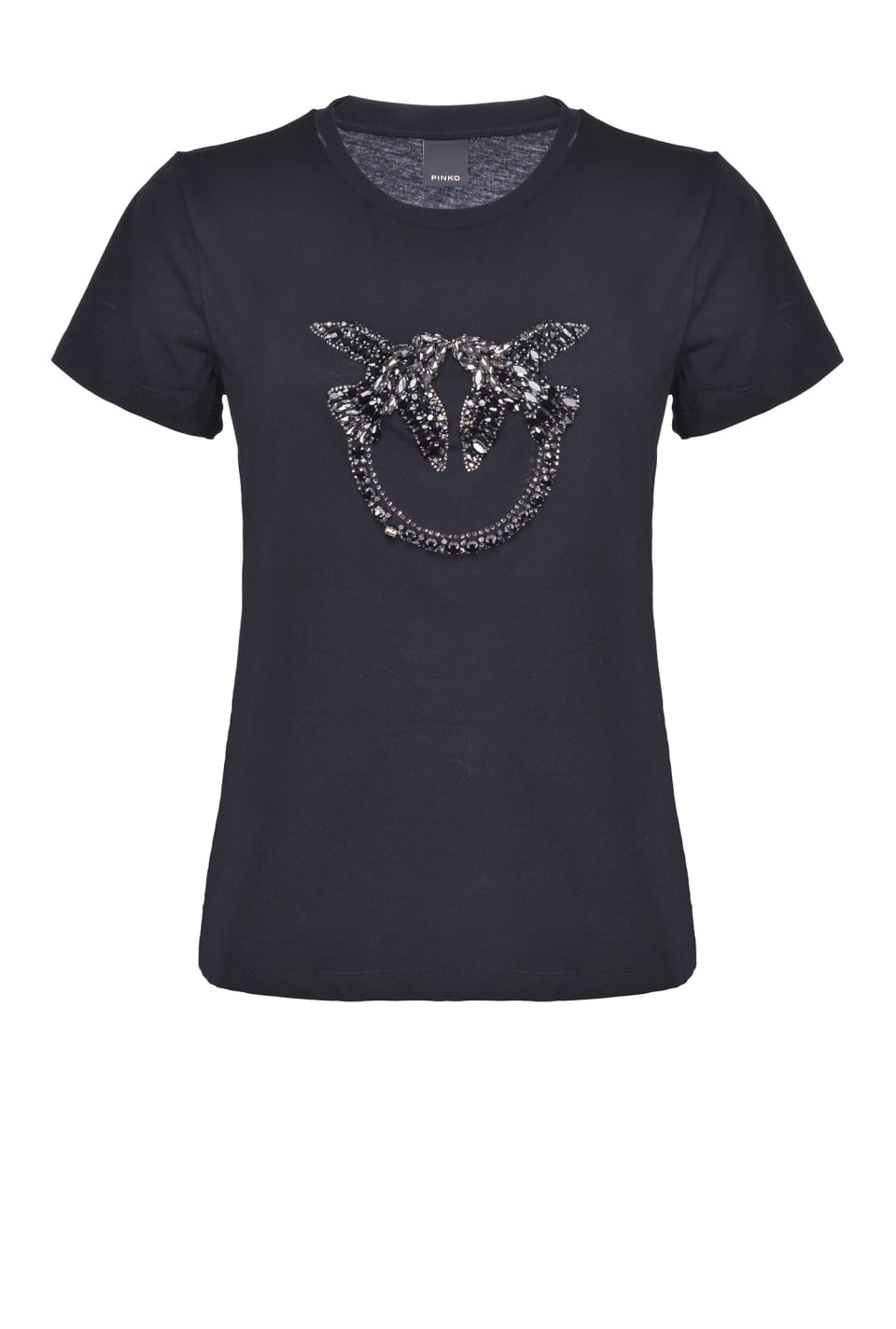 Shiny Love Birds embroidery T-shirt