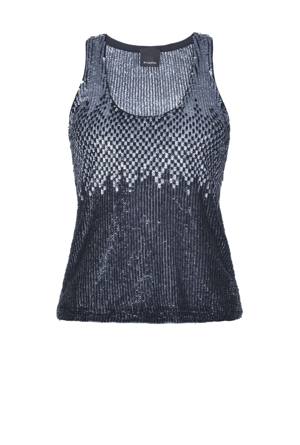 Tank top in full paillettes sfumato - Pinko