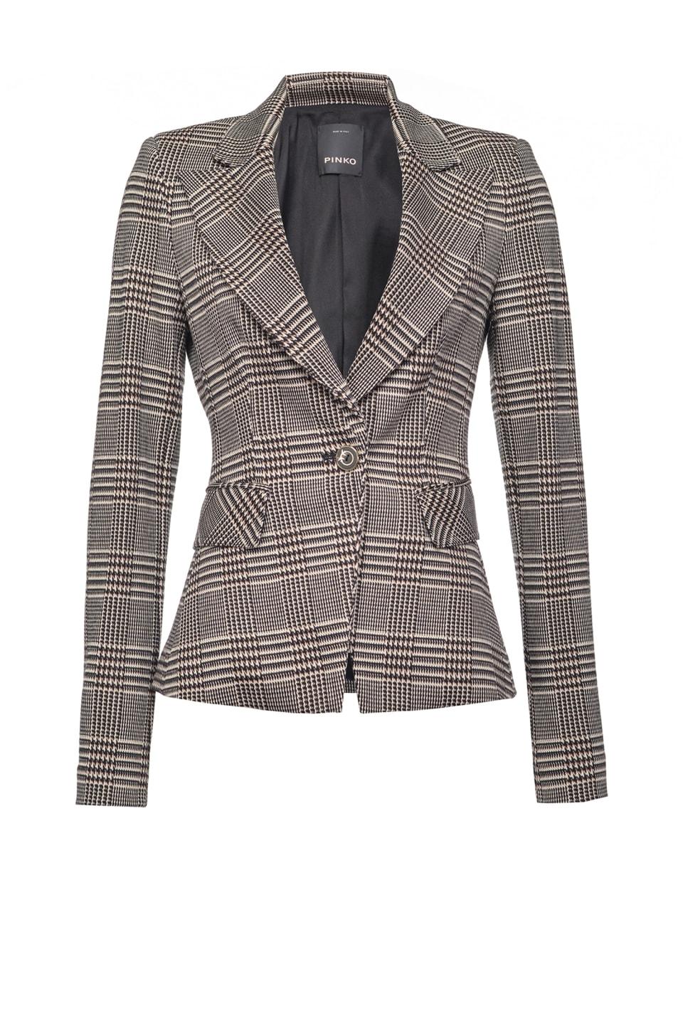 威尔士亲王格纹图案西装外套 - Pinko