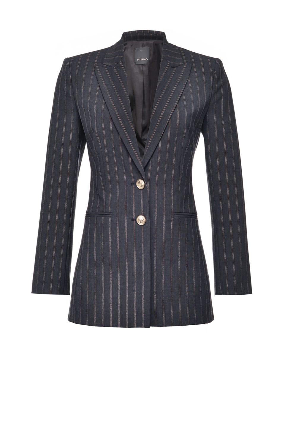 金属丝细条纹西装外套 - Pinko