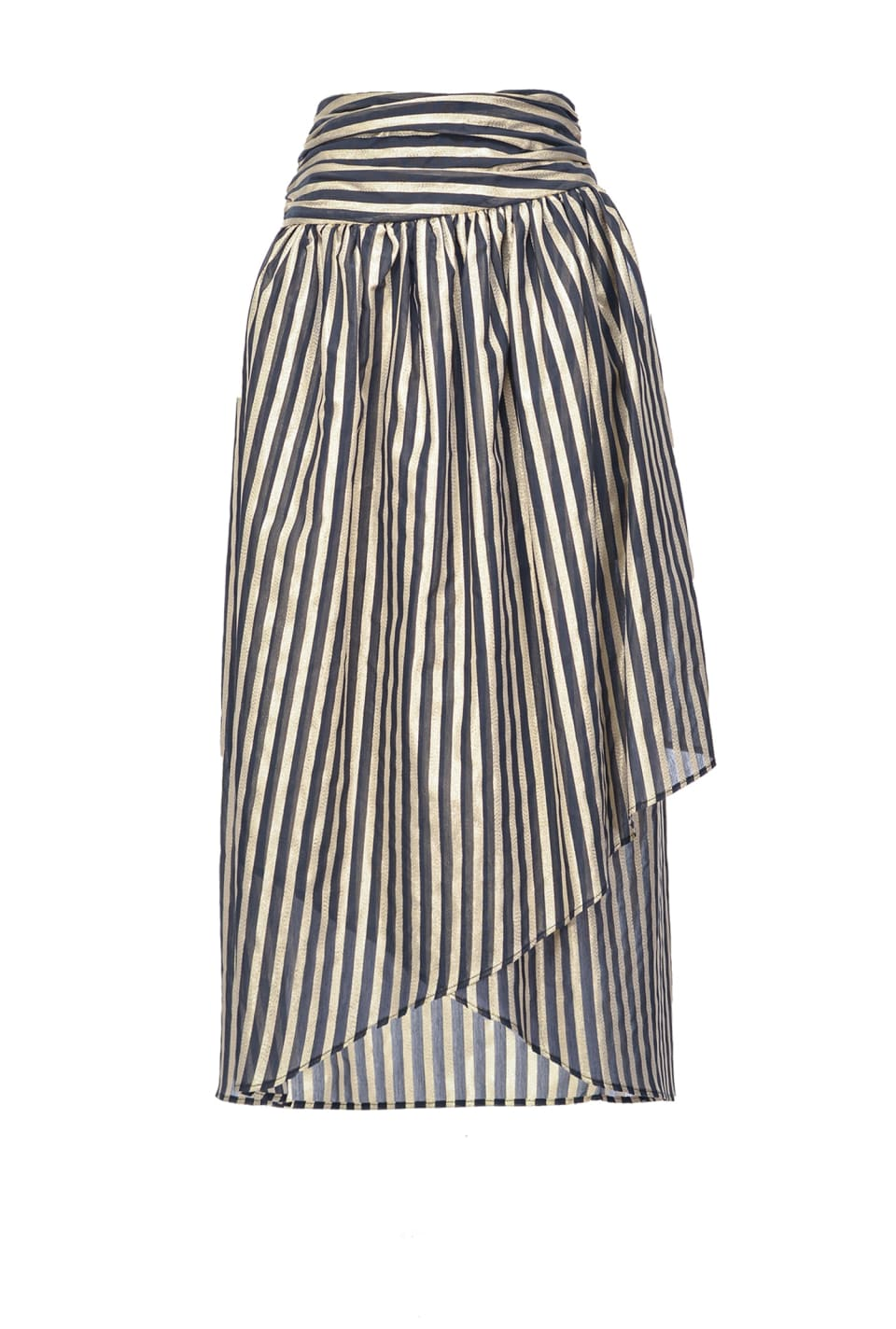 Lurex striped skirt