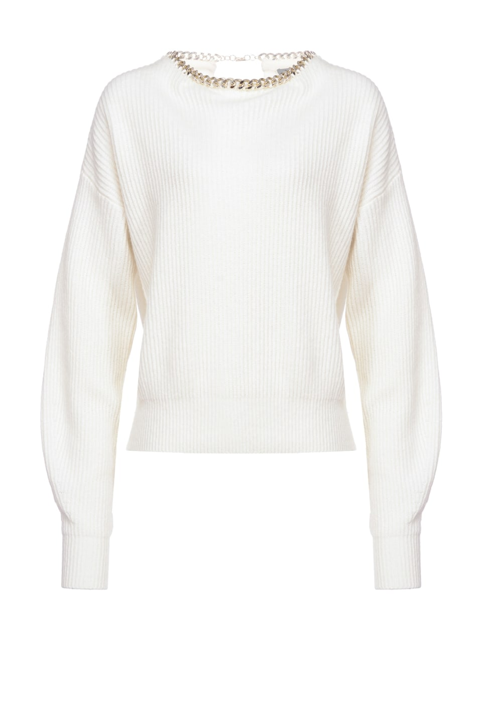 Pullover with chain on the neckline - Pinko
