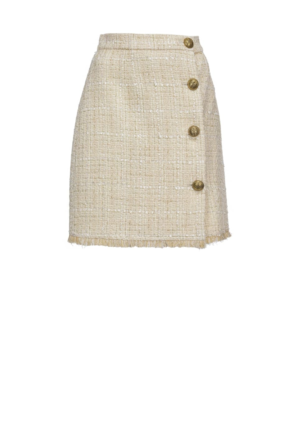 Lurex tweed mini skirt - Pinko