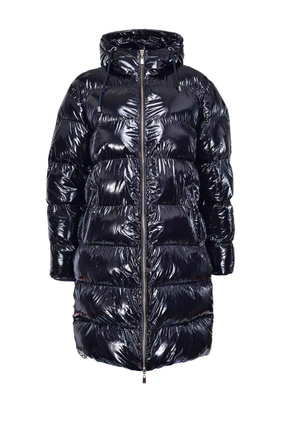 Nylon crystal midi quilted coat - Pinko