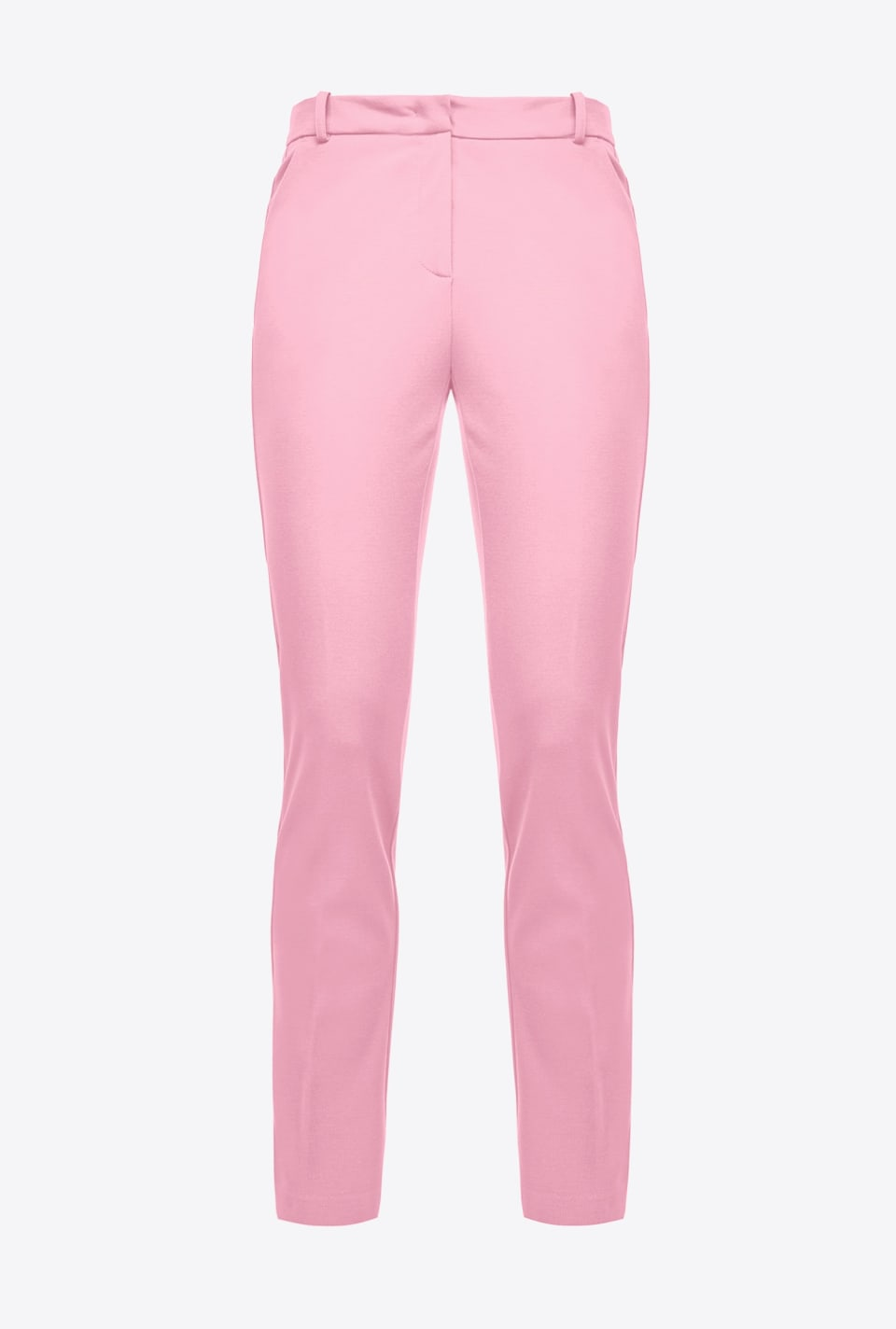 Scuba-effect cigarette-fit trousers - Pinko