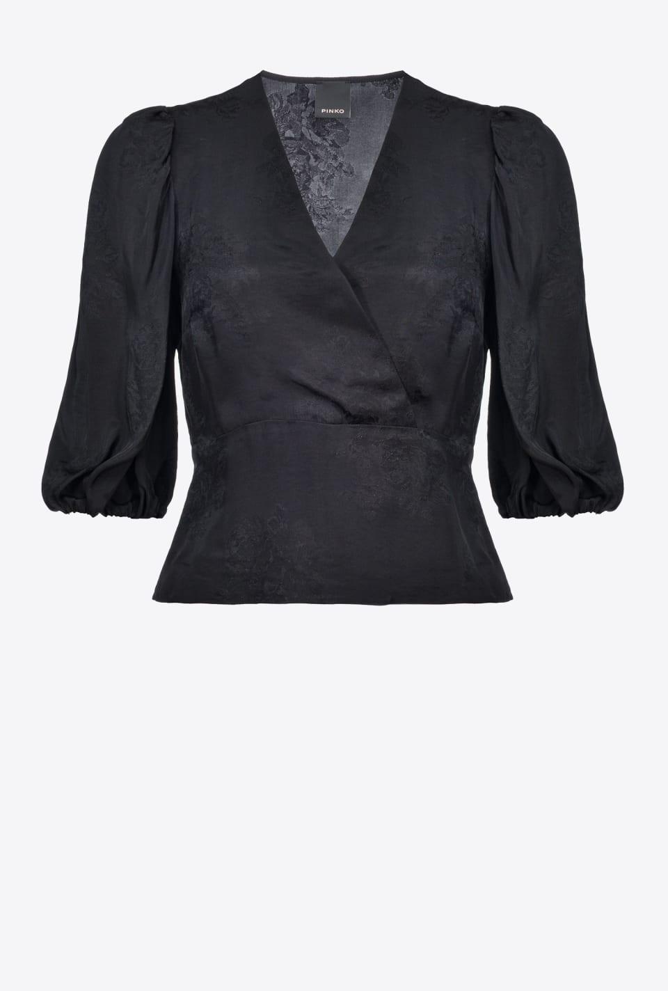 Floral jacquard blouse - Pinko
