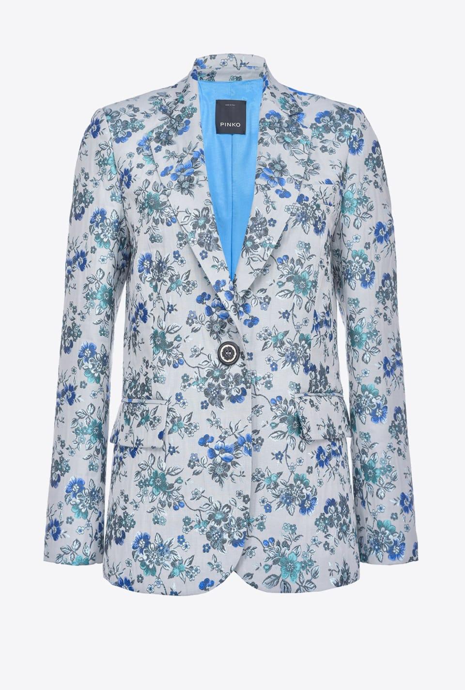花卉锦织面料西装外套 - Pinko