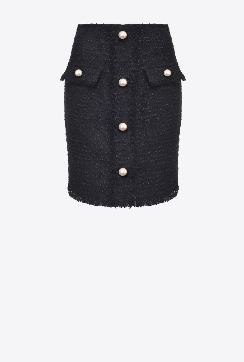 Tweed miniskirt with buttons - Pinko