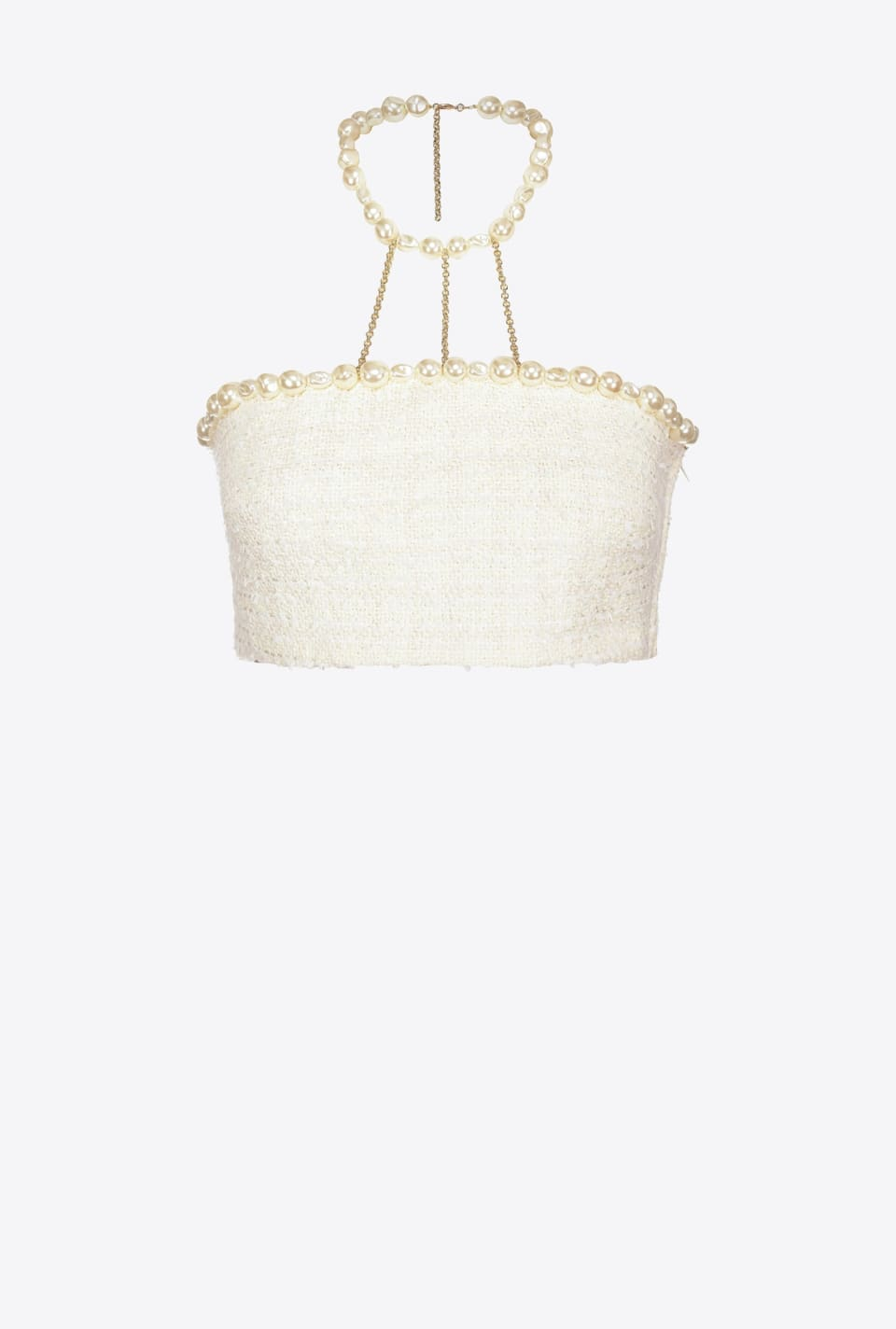 Crop top with pearls - Pinko