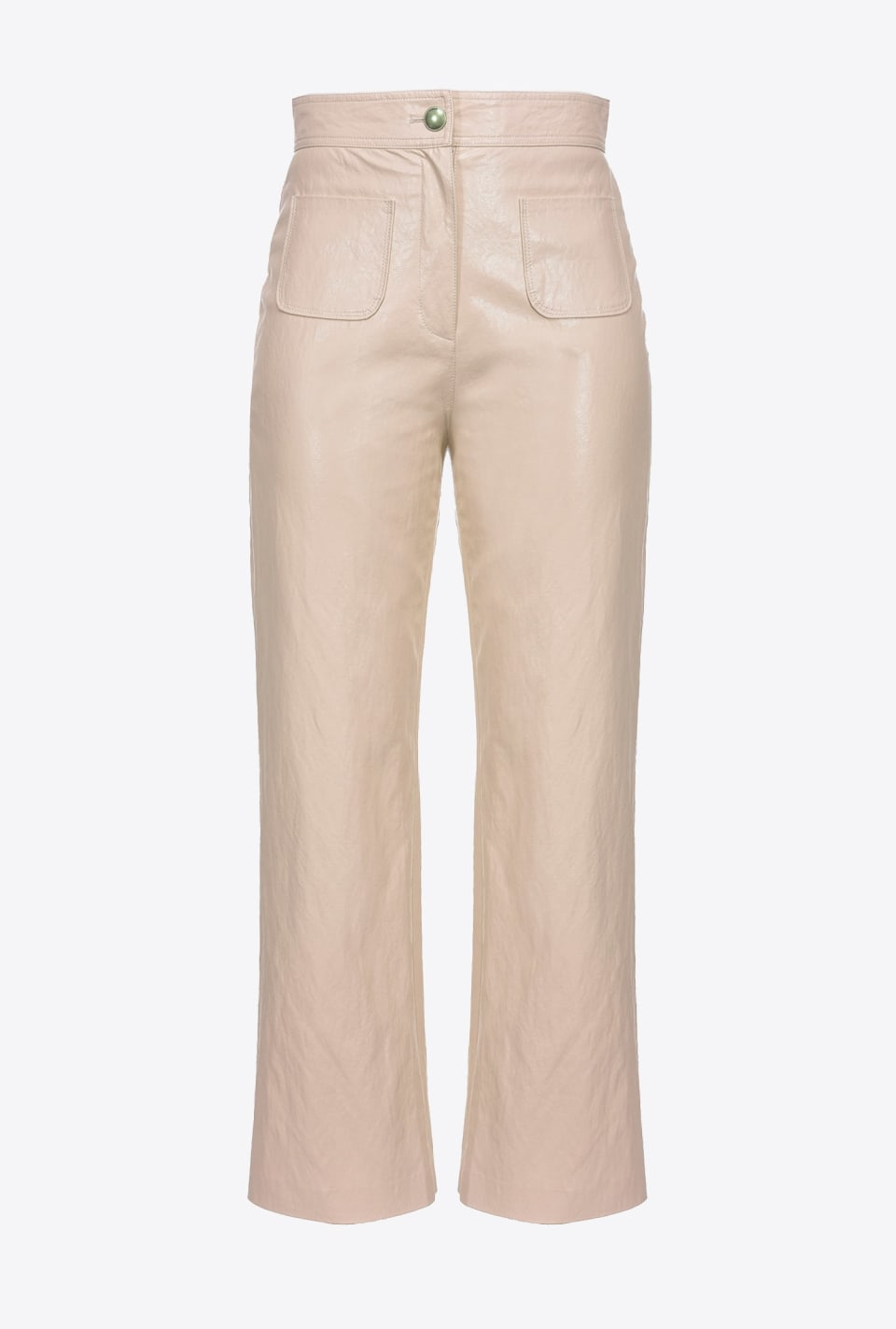 Washed leather-look trousers - Pinko